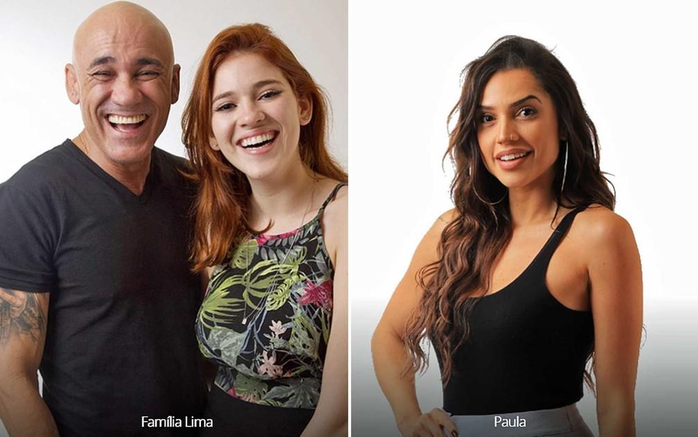 -  Famílai Lima e Paula estão no último paredão do BBB18  Foto: Reprodução / TV Globo