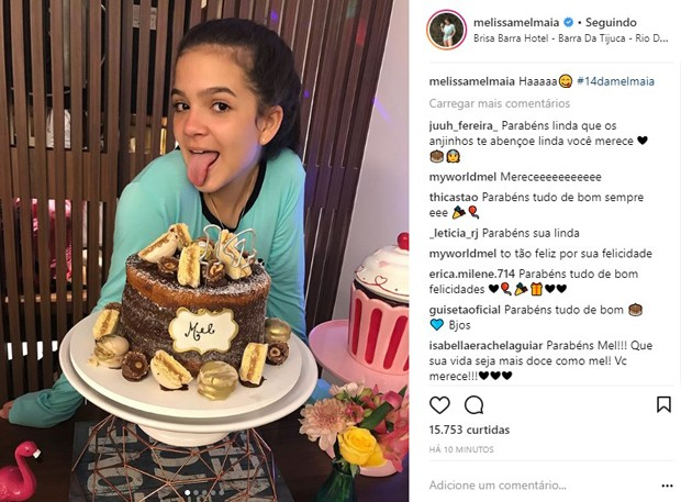 Mel Maia celebra 14 anos com amigas em festa do pijama (Foto: Reprodução/Instagram)