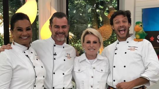Nando Rodrigues e Solange Couto estão na final do 'Super Chef' com João Vitti após vencerem a 'Super Panela de Pressão'