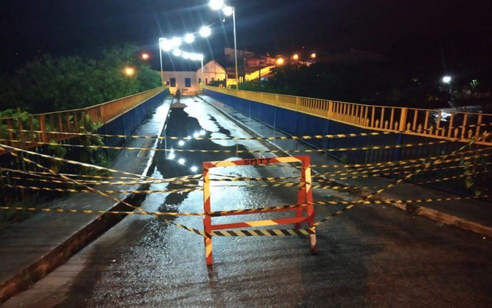 Ponte do Bomfim, em Estância (SE) — Foto: ASN