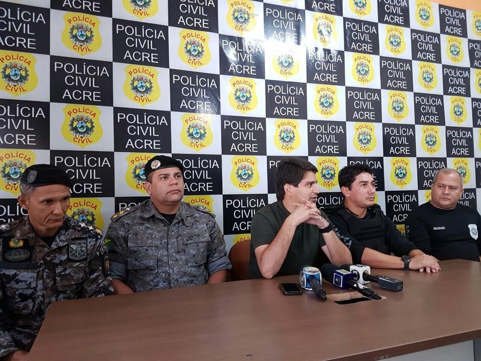 Órgãos de segurança pública falaram sobre operaçao nesta quinta-feira (5) (Foto: Divulgação/Polícia Civil)