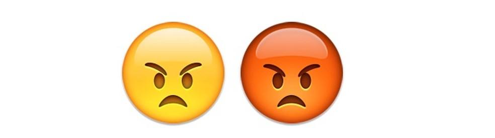 Emojis com caras irritadas — Foto: Reprodução/TechTudo