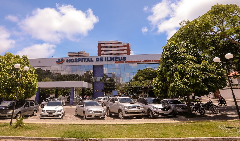 Hospital de Ilhéus, unidade de saúde que mulher com Covid-19 ficou internada, no sul da Bahia — Foto: Divulgação/Secom Ilhéus
