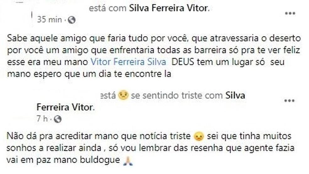 Motociclista perde controle de veículo e é arremessado contra poste em Porto Velho — Foto: Facebook/Reprodução