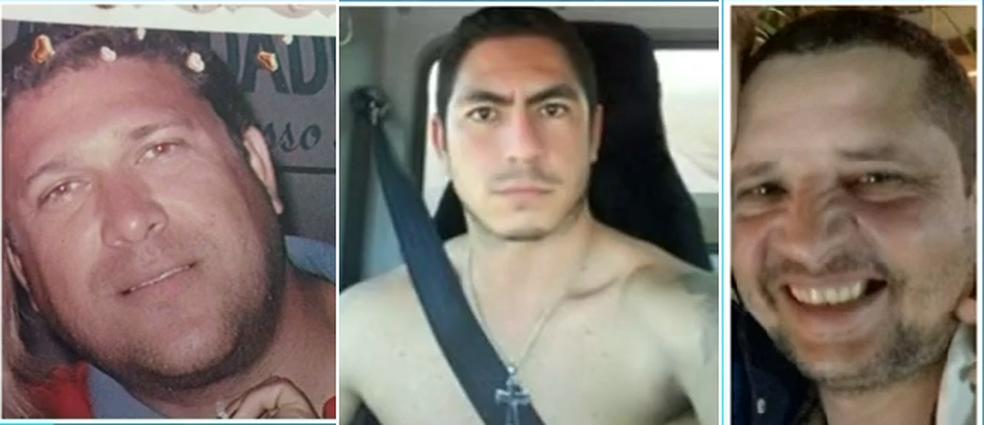 -  Arione Rodrigues, Rafael Macedo e João Francisco morreram em acidente  Foto: Reprodução/TV Anhanguera