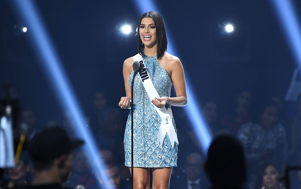 Miss Brasil Julia Horta esteve entre as 20 mais bonitas no Miss Universo 2019 — Foto: GETTY IMAGES / AFP Photo