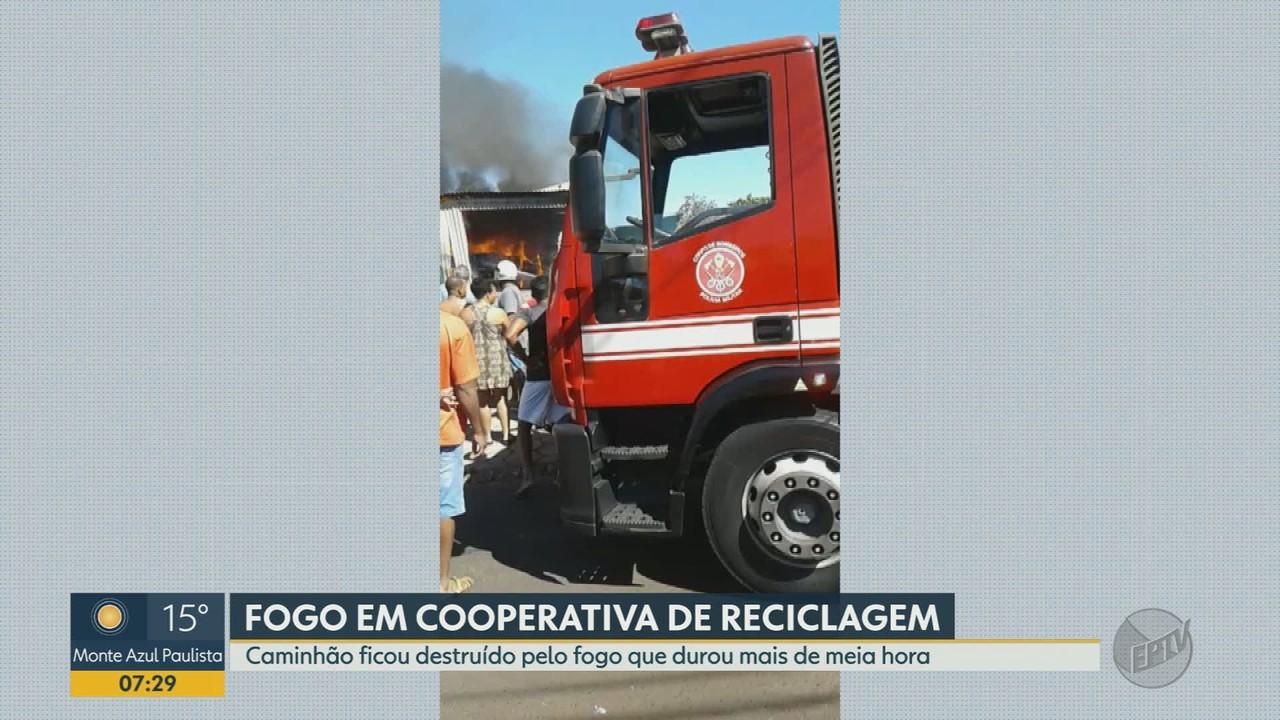 Incêndio atinge cooperativa de reciclagem em Orlândia, SP