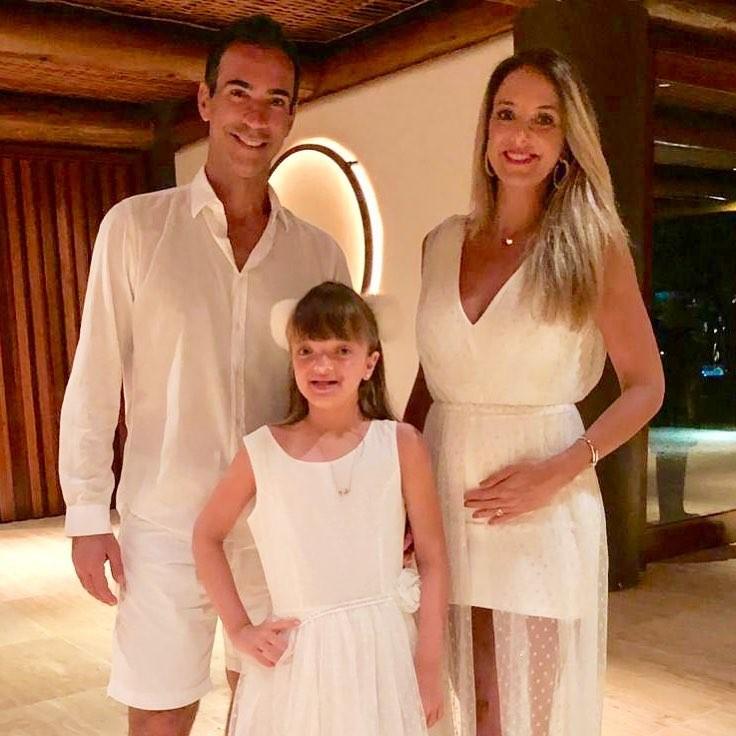 César Tralli e Ticiane Pinheiro com Rafa Justus (Foto: Reprodução)