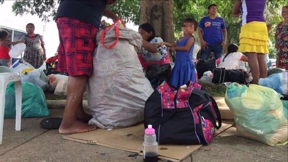 Em um grupo de 44 pessoas em uma comunidade em Belém, 23 eram crianças (Foto: Leandro Machado/BBC Brasil)