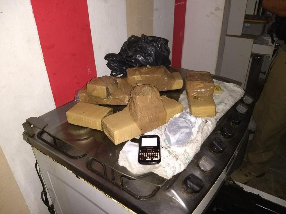 Quantidade não informada de drogas foi apreendida durante a Operação Hydra, em Sertânia — Foto: Polícia Civil/Divulgação