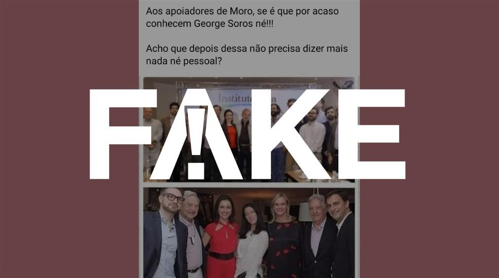 É #FAKE que fotos mostrem mulher de Sergio Moro em eventos no Instituto Lula — Foto: Reprodução