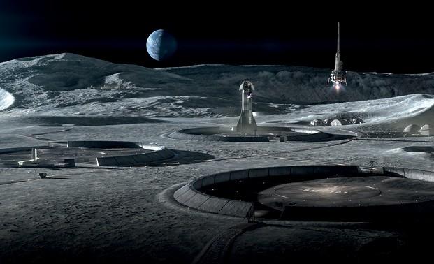 Beyond the Valley - El lanzamiento del icono con sede en Texas (EE. UU.) Sugiere la impresión 3D de la base lunar basada en el polvo lunar, también conocida como regolito (Foto: Revelation)