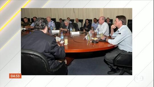 Bolsonaro se reúne com ministros para discutir o agravamento da crise na Venezuela