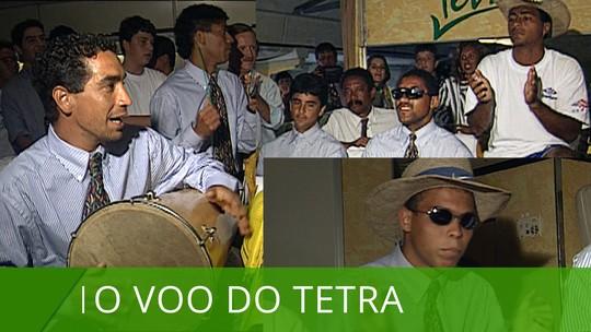 25 anos do Tetra: muito samba no voo de volta e longas horas de comemoração pelas ruas
