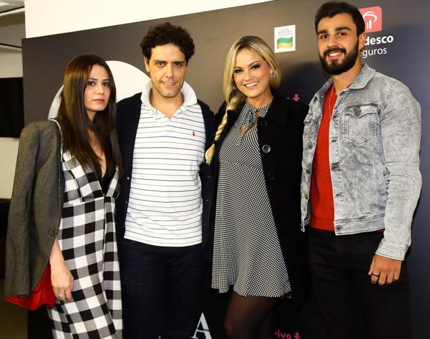 Aline Frare, Thiago Arancam, Ellen Rocche e Rogério Oliveira (Foto: Marcos Ribas/Brazil News)