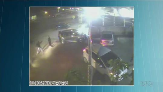 Mulher é baleada em estacionamento de supermercado, em São José dos Pinhais