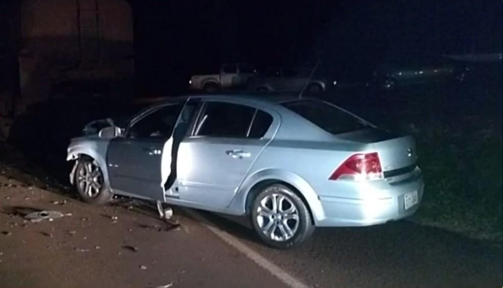 Carro que se envolveu no acidente em Ilha Solteira (Foto: Polícia Rodoviária)