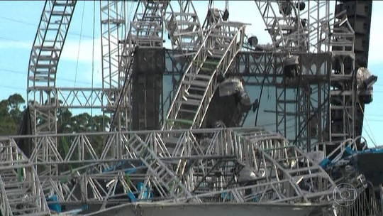 Vídeo mostra desabamento de estrutura que atingiu e matou DJ