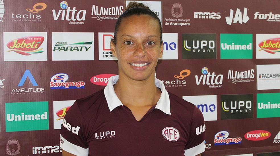 Rosana estava na Ferroviária e hoje é destaque no Palmeiras — Foto: Jonatan Dutra/Ferroviária SA