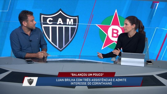 Loffredo fala da postura de Luan ao jogar mesmo estando com a possibilidade de ir para o Corinthians