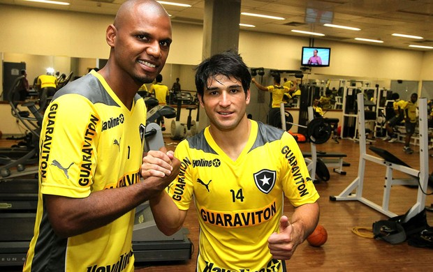 Jefferson e do Lodeiro Botafogo (Foto: Satiro Sodré / BFR)