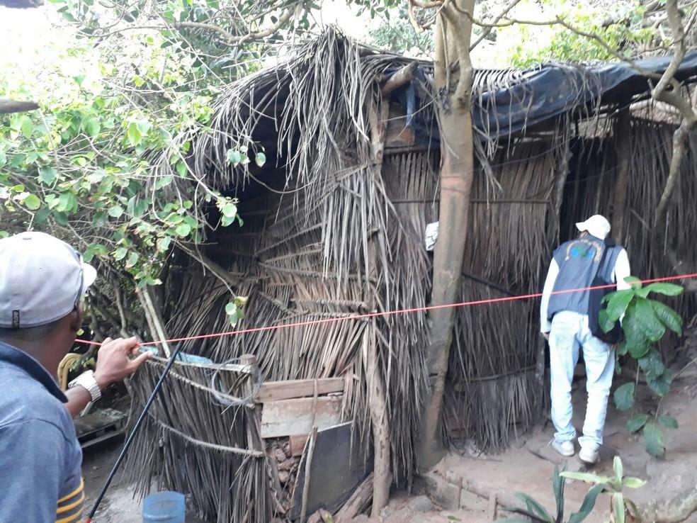 Barracos levam em média duas horas para serem desmontados  (Foto: Divulgação/ Cipam)