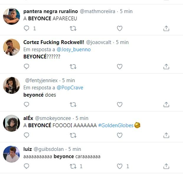 Web se anima ao ver Beyoncé em premiação (Foto: Reprodução/Twitter)