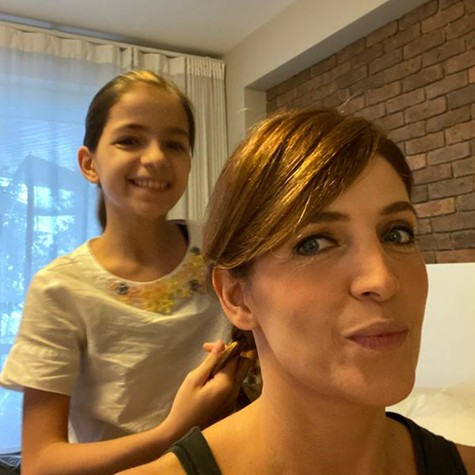 Poliana Abritta com a filha, Manu (Foto: Arquivo pessoal)