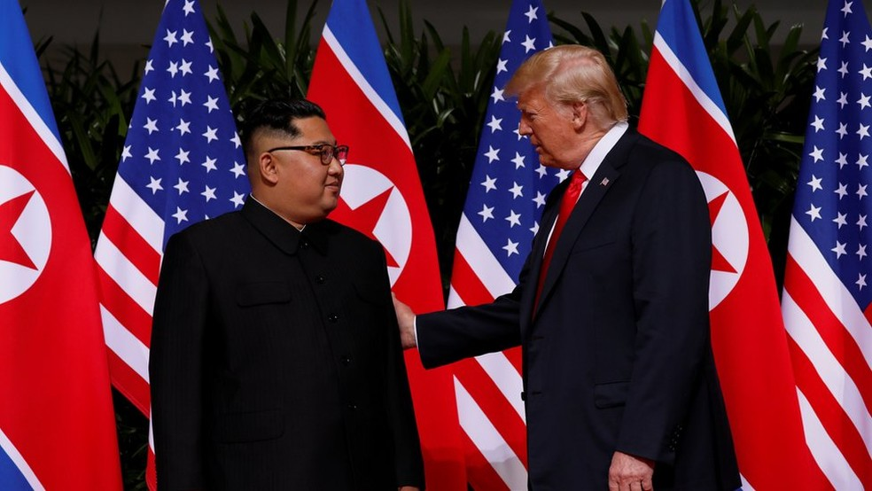 -  Trump tenta   39;guiar  39; o líder norte-coreano  Foto: Reuters