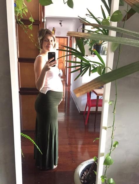 Christiana Ubach, grávida de seu primeiro filho (Foto: Reprodução)