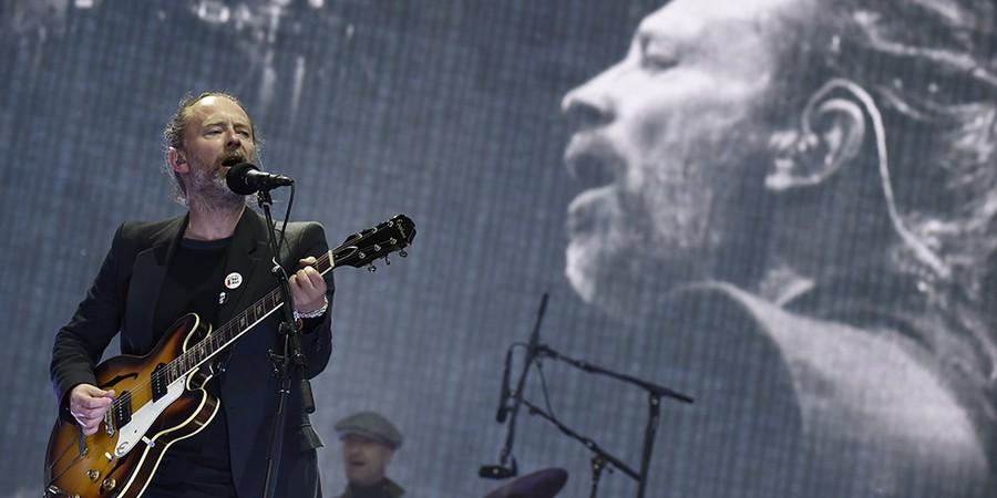 O líder do Radiohead, Thom Yorke, a banda essencial dos últimos 20 anos (Foto: AFP PHOTO/DIGITAL/ANDY BUCHANAN)