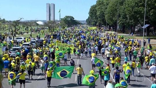 Todos os estados e o DF registram manifestações a favor do governo Bolsonaro
