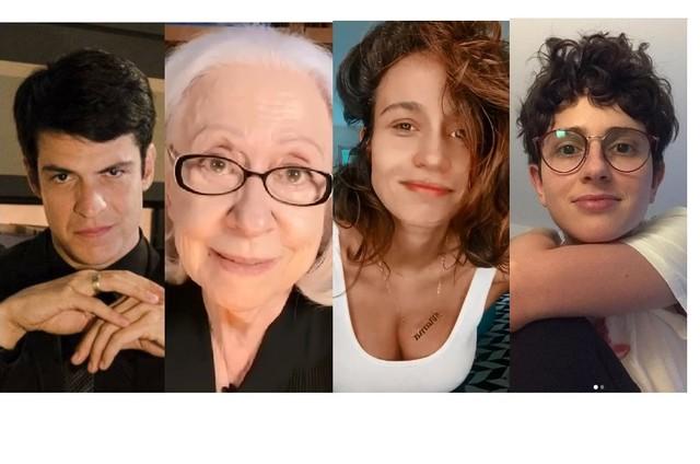 Mateus Solano, Fernanda Montenegro, Nanda Costa e Carol Duarte são alguns dos artistas que darão depoimentos (Foto: Divulgação e Reprodução/Instagram)