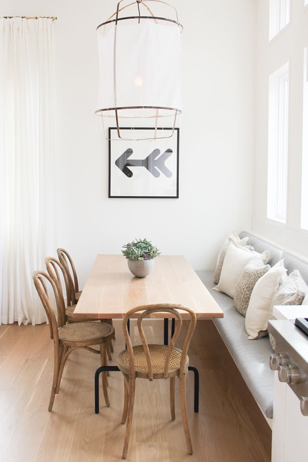 10 salas de jantar com banco: boa solução para apartamentos pequenos (Foto: Reprodução)