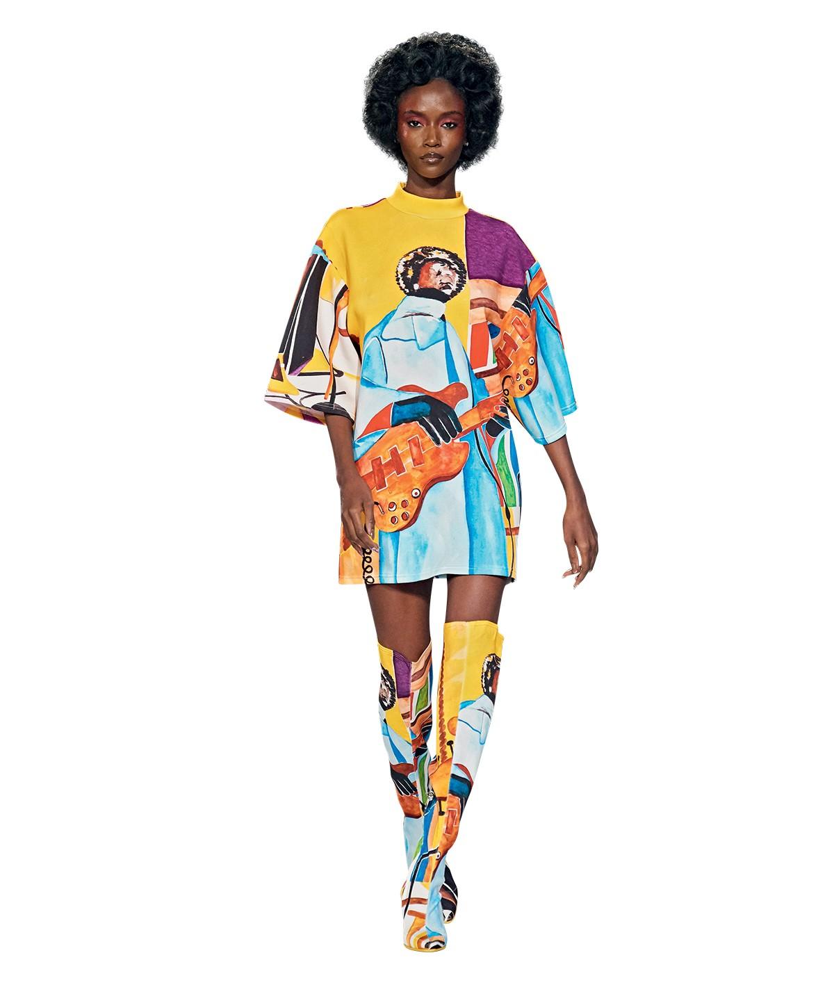 Coluna Maria Rita - desfile da pyer moss, marca norte-americana cujo pilar principal são a  representatividade e a construção de narrativas negras (Foto: Divulgação)