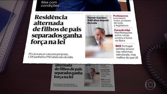 Prisão de Michel Temer é destaque nos jornais internacionais
