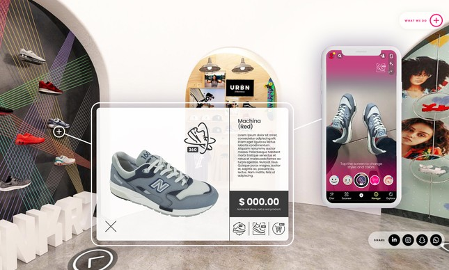 Vyrch, plataforma criada pela MondoDX, permite ao cliente do e-commerce ver detalhes do produto e experimentá-lo em um provador virtual