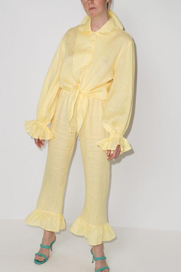 Pijama elevado a loungewear com versão fashonista pela Sleeper (R$ 1.944 no Farfetch) (Foto: Reprodução/Farfetch)
