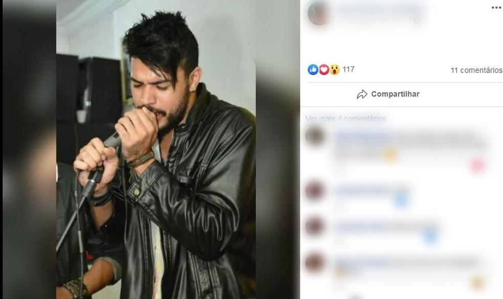Cantor morreu em acidente na SP-75 em Itu — Foto: Reprodução/Facebook