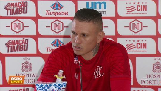 """Após gol salvador, Rafael Oliveira mira titularidade e explica apelido de """"Monstrão"""""""
