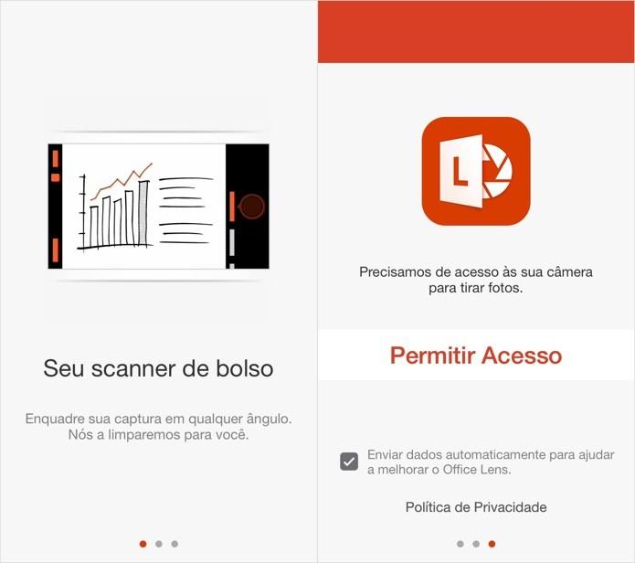 Configurando o Office Lens no iOS (Foto: Reprodução/Helito Bijora)