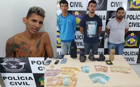 Cadeirante e três jovens são presos com três quilos de droga e quase R$ 10 mil em RR