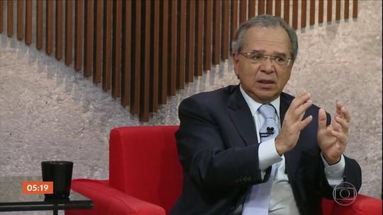 Ministro Paulo Guedes participa da estreia do programa Central GloboNews