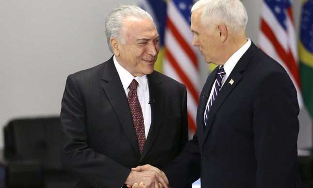 Michel temer e Mike Pence