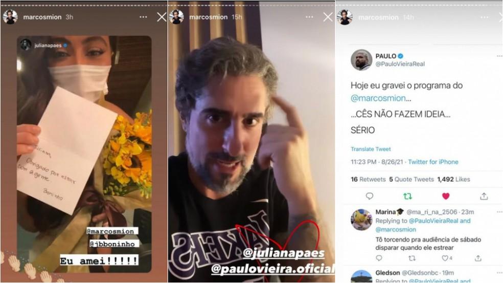 Convidados do primeiro Caldeirão com Mion: Juliana Paes e Paulo Vieira — Foto: Reprodução Instagram