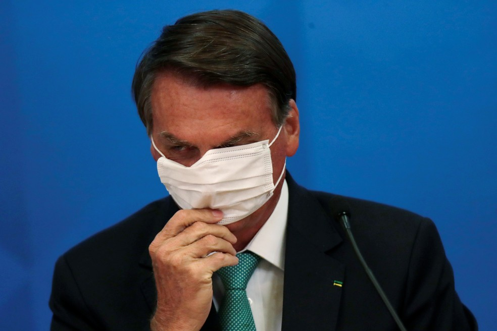 Bolsonaro em evento em Brasília — Foto: REUTERS/Ueslei Marcelino