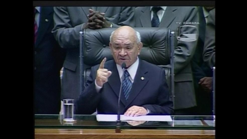 Severino Cavalcanti durante mandato na Câmara dos Deputados — Foto: Reprodução / TV Câmara