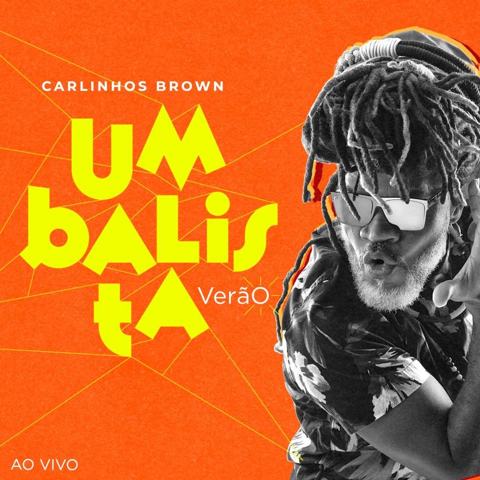 Capa do álbum 'Umbalista Verão', de Carlinhos Brown — Foto: Magali Morais com arte de Ian Thommas