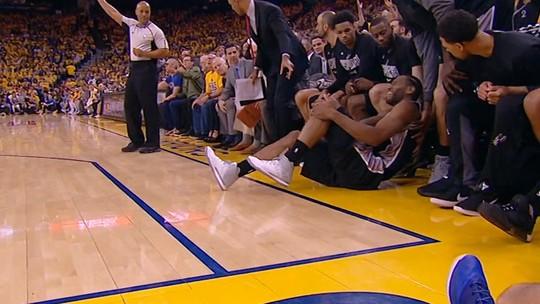 Torcedor dos Spurs aciona na Justiça Zaza e Warriors por lesão de Kawhi