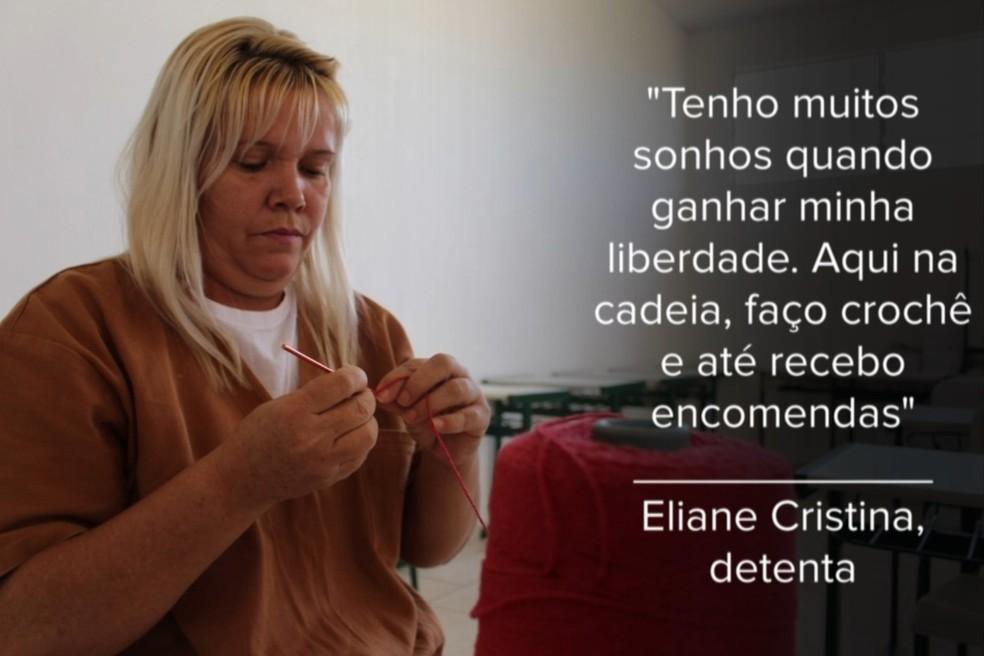 Eliane cumpre pena de mais de 20 anos na penitenciária de Pirajuí  — Foto: Marília Moraes / G1